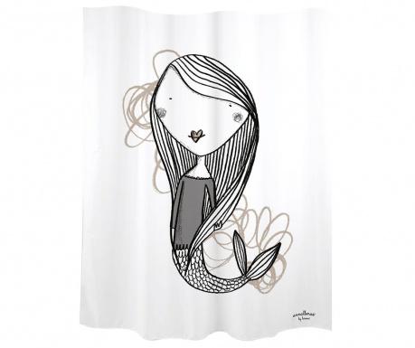 Zavjesa za tuš Mermaid White 180x200 cm