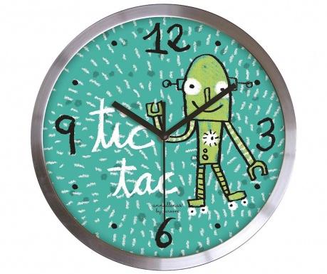 Zidni sat Tic Tac Green