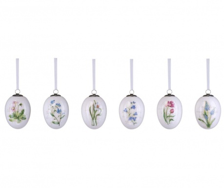 Set 6 decoratiuni suspendabile Flower Slim Decal
