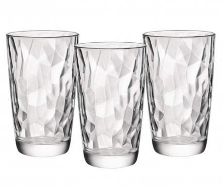 Set 3 kozarcev Diamonds 470 ml