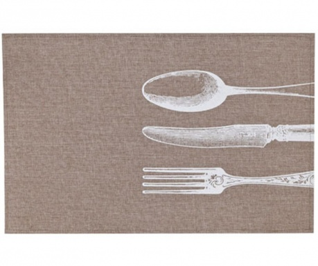 Pogrinjek Cutlery White 30x45 cm