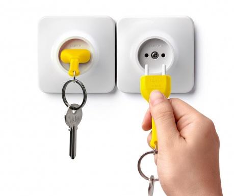 Set breloc si suport pentru chei Unplug Yellow