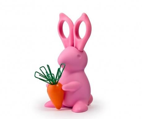 Bunny Pink Olló tartóval és gémkapcsok