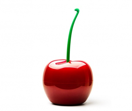 Cos de gunoi cu capac Cherry Red 3 L