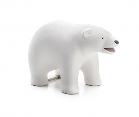 Polar Bear White Irodai ragasztószalag és gémkapocs tartó