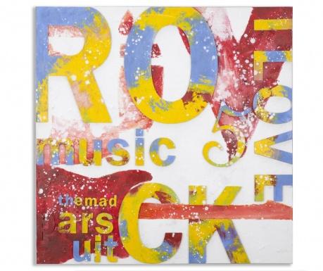 Obraz I Love Rock 100x100 cm