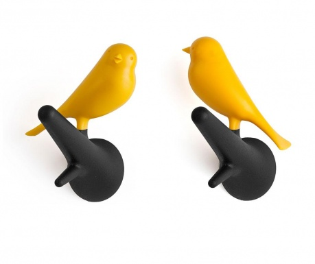 Set 2 cuiere Sparrow Black Yellow