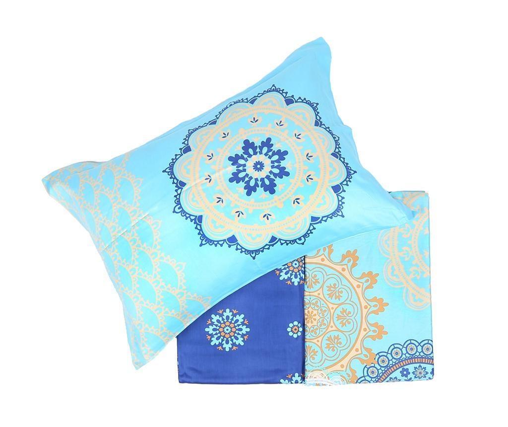 Lenjerie de pat King Satin  Supreme Ottoman Blue 200x220