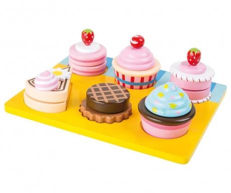 Zestaw patera i zabawkowe ciastka Bakery