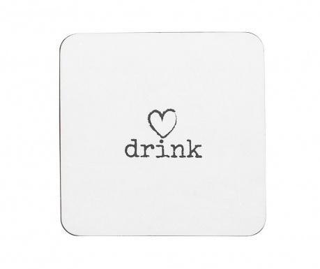 Sada 4 podpohárnikov Drink Heart