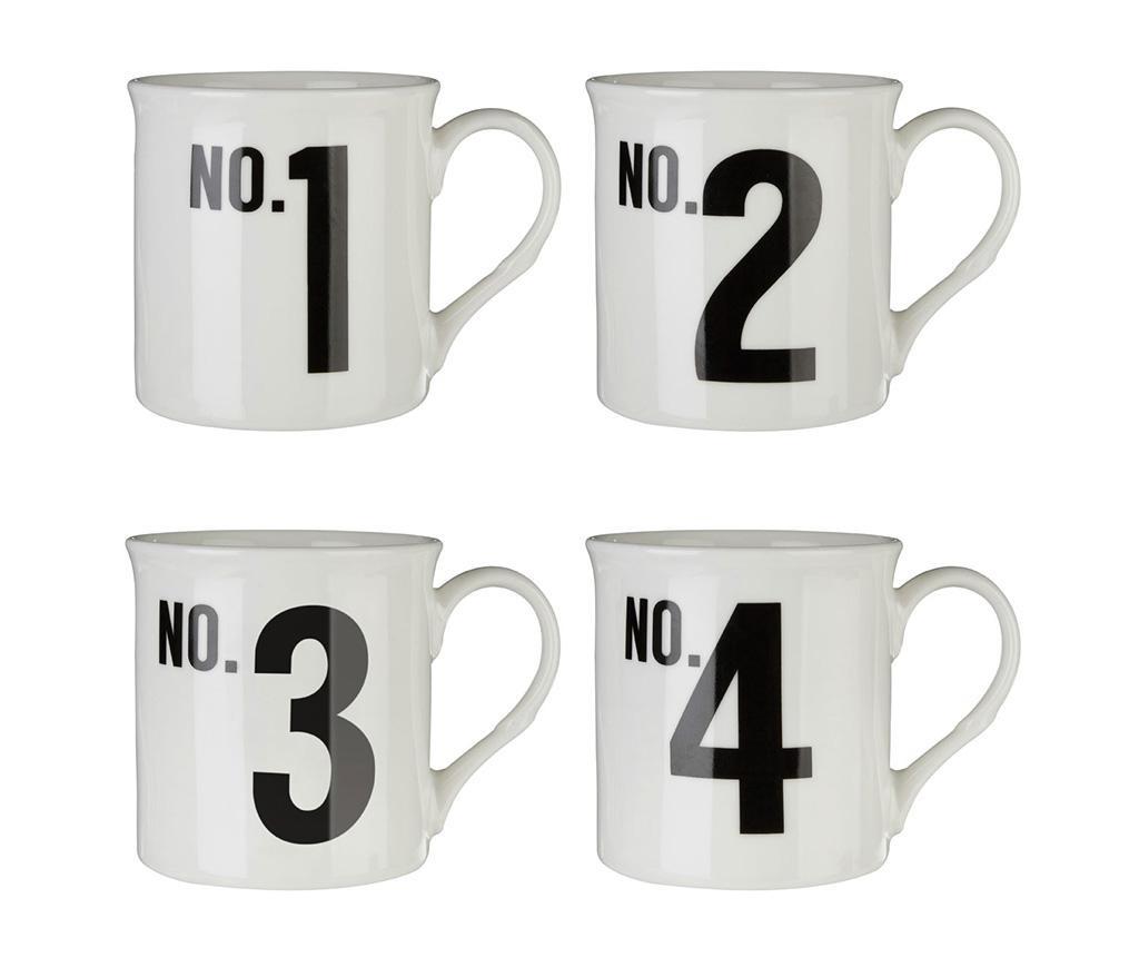 Set 4 šalice Numbers 342 ml