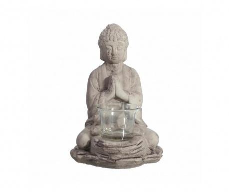 Свещник Buddha Grey