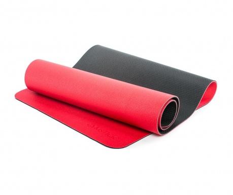 Saltea pentru fitness Pro Yoga Red Black 61x180 cm