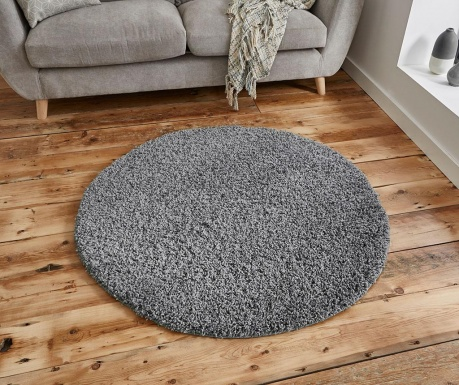 Tepih Vista Circle Grey 133 cm