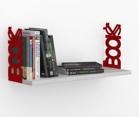 Polica Books White Red