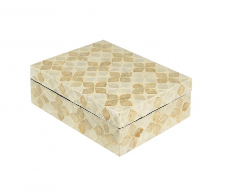 Box with cover Cream Flower