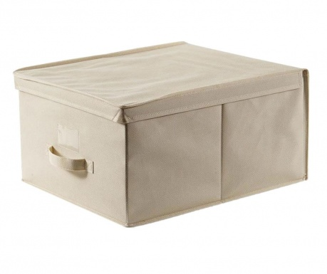 Úložná krabica s vekom Easy Ecru XL