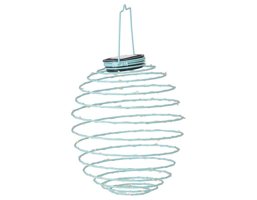 Round Blue Napelemes lámpa