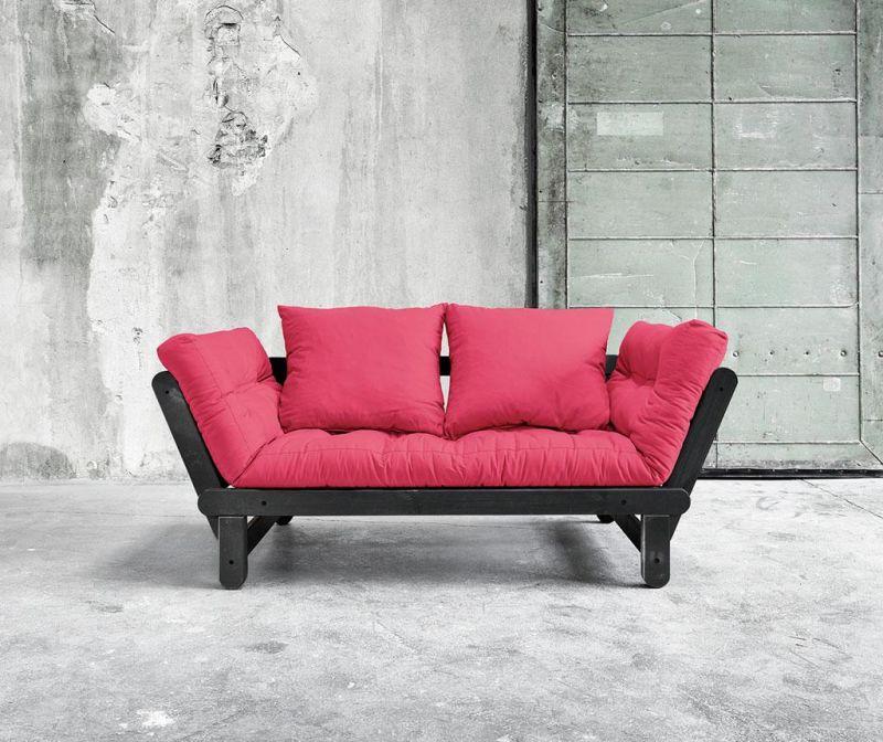 Sofa extensibila Beat Black and Magenta