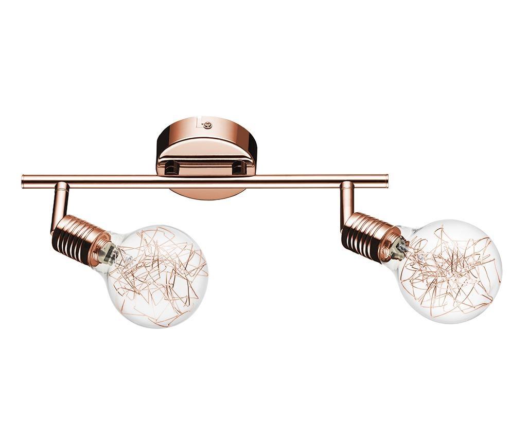 Zidna ili stropna svjetiljka Bulbs Double Copper  Transparent