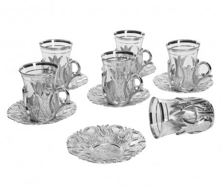 Чаен сервиз 12 части Galip Silver