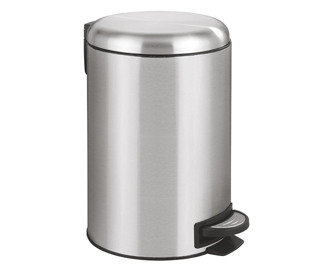 Cos de gunoi cu capac si pedala Cassya Grey 12 L
