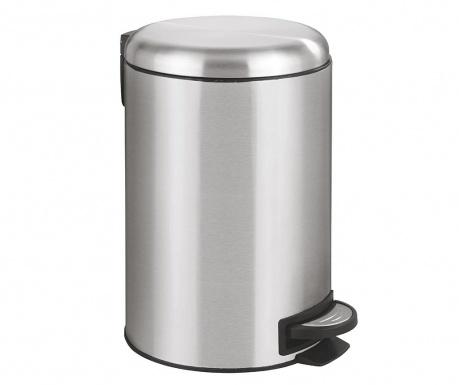 Кош за отпадъци с капак и педал Cassya Grey 12 L