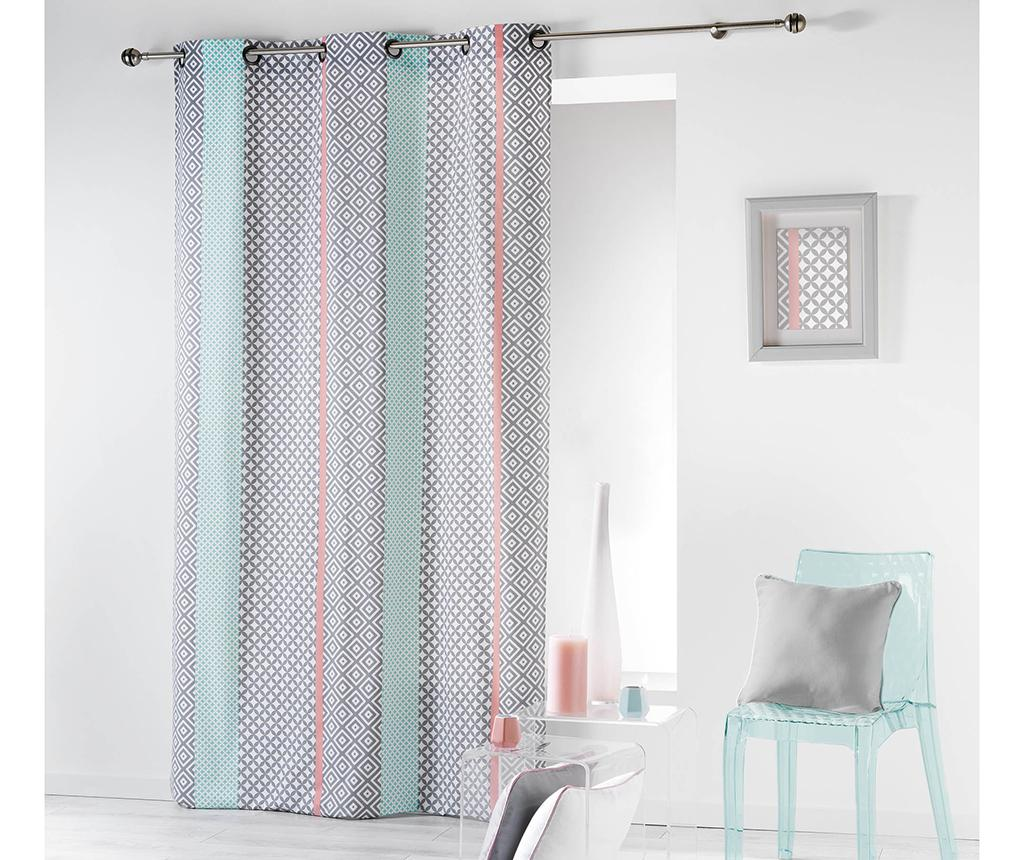 Draperie Baltic Pink and Green 140x240 cm - L3C