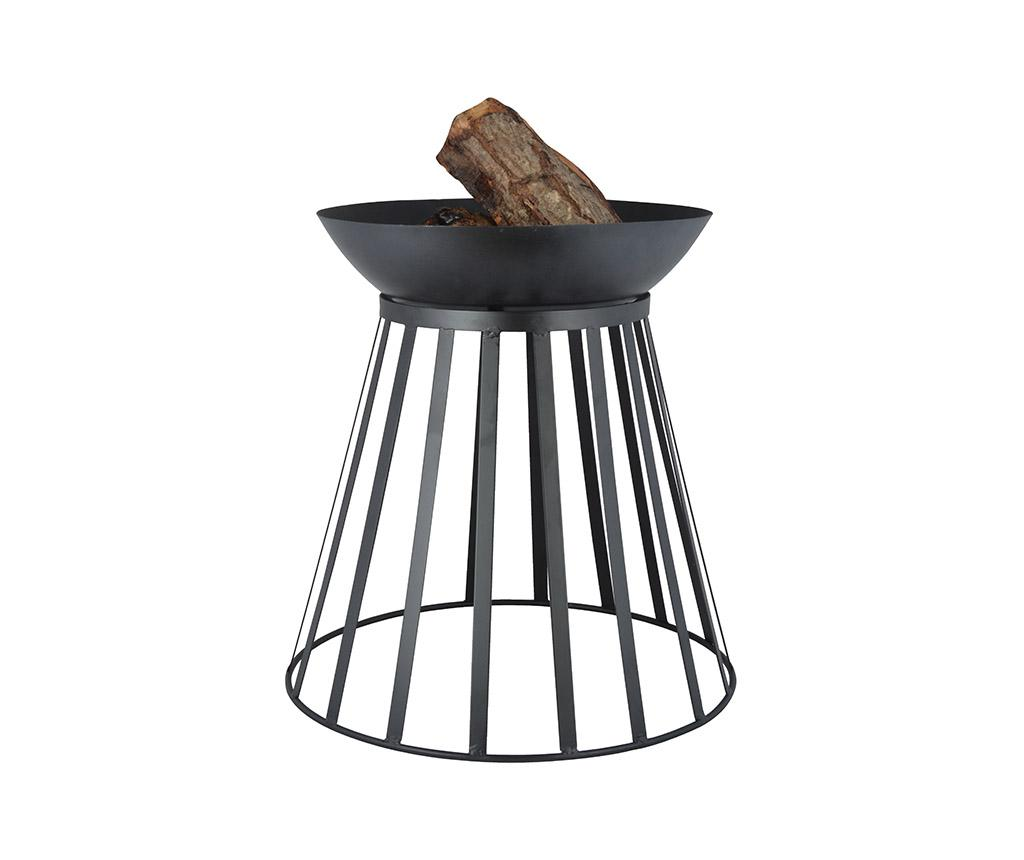 Cos pentru foc Turnable - Esschert Design, Negru imagine 2021