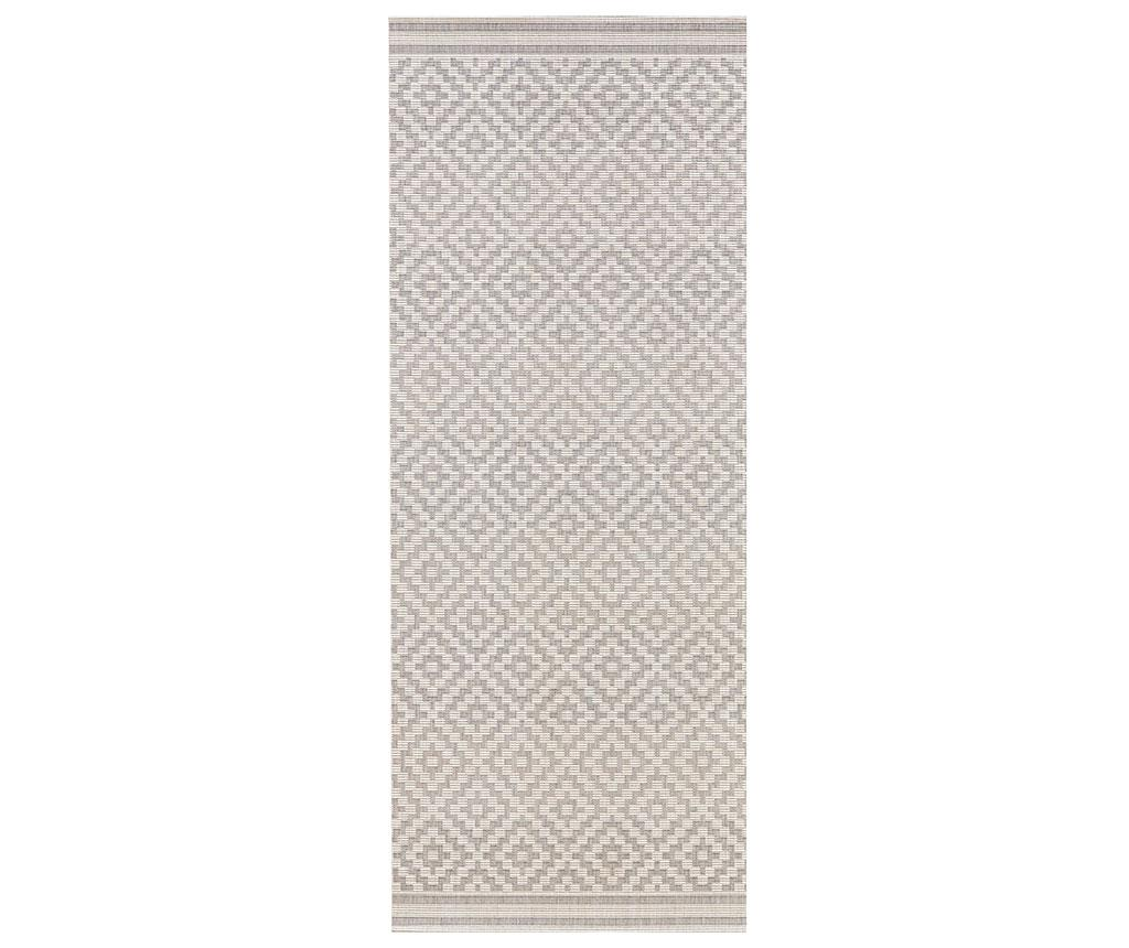 Covor de exterior Meadow Raute Grey Cream 80×200 cm