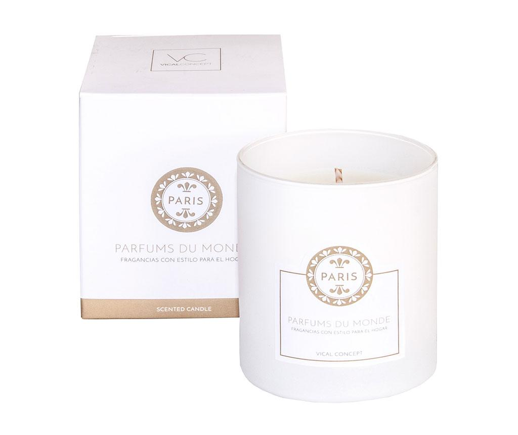 Lumanare parfumata Paris Lily S - Vical Home, Alb