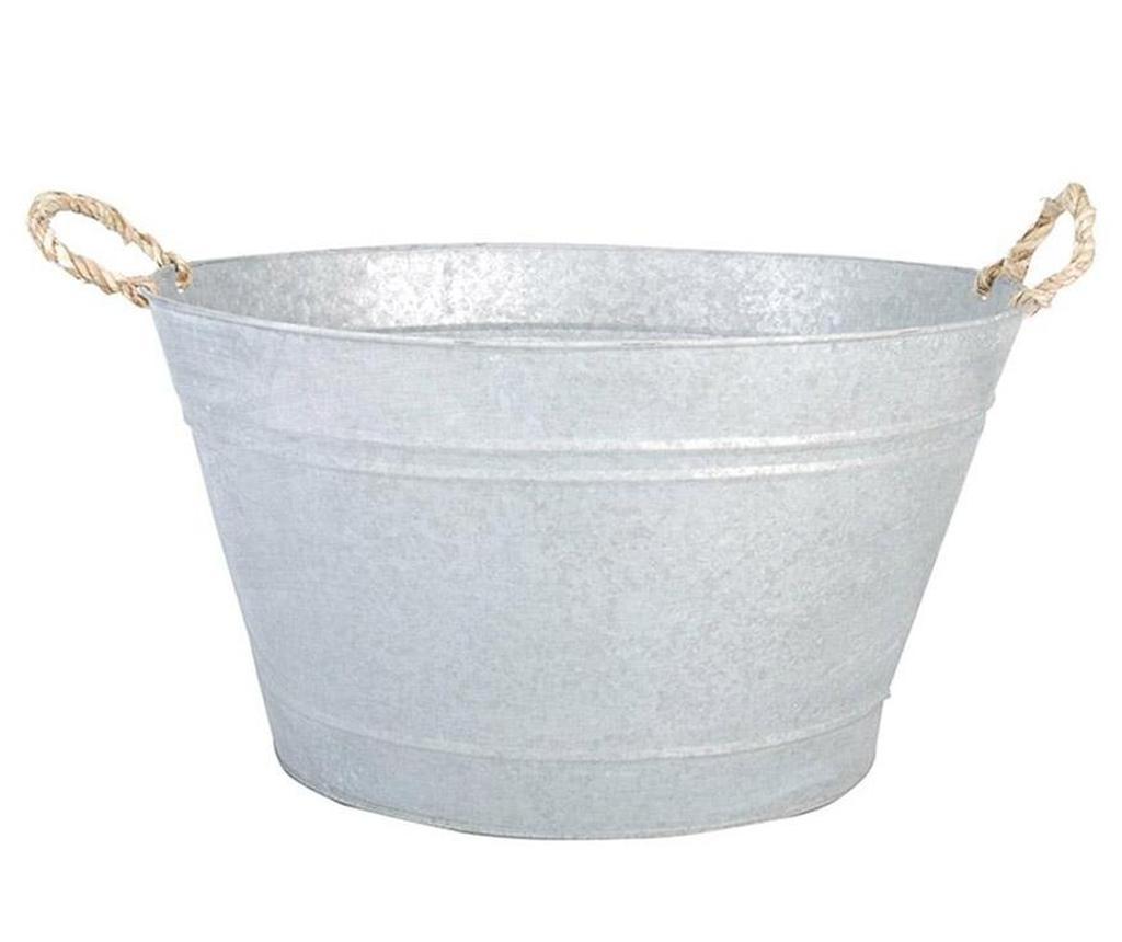 Ghiveci Tribalt - Esschert Design, Gri & Argintiu