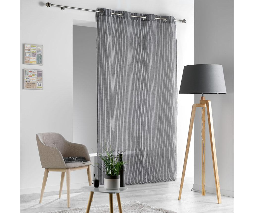 Draperie Sofiane Grey 140x280 cm - L3C, Gri & Argintiu