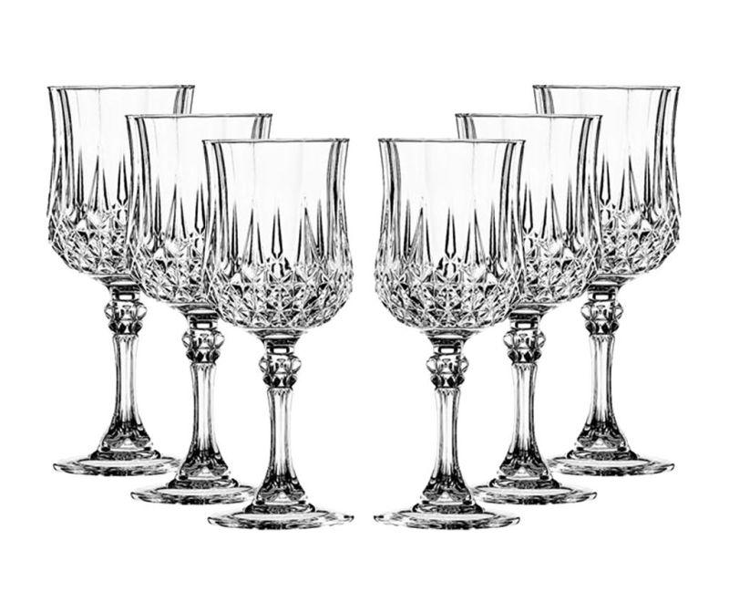 Set 6 kozarcev za vino Longchamp 170 ml