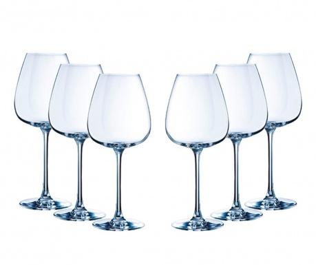 Sada 6 sklenic na víno Emotions 350 ml
