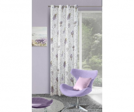 Zastor Sendi White Purple 140x250 cm