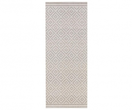 Covor de exterior Meadow Raute Grey Cream 80x200 cm