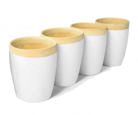 Сервиз 4 чаши Bamboo Life White 300 мл