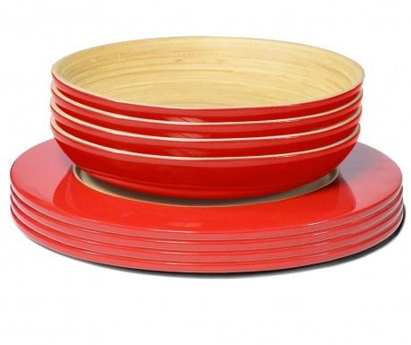 Сервиз за маса 8 части Bamboo Life Red