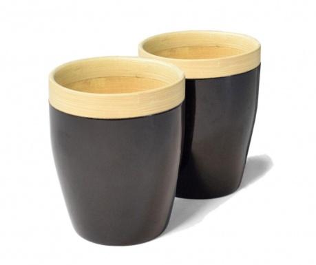 Set 2 čaše Bamboo Life Black