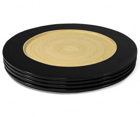 Комплект 4 плитки чинии Bamboo Life Black