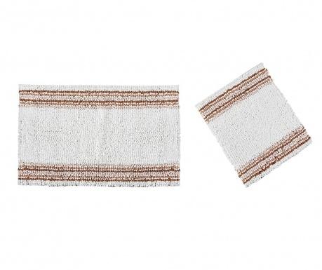 Zestaw 2 dywaników łazienkowych Line Light Brown