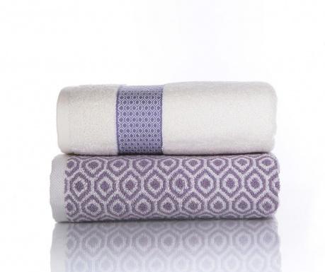 Zestaw 2 ręczników kąpielowych Harris Lila 50x90 cm