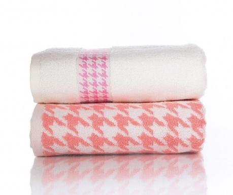 Zestaw 2 ręczników kąpielowych Coxy Pink 50x90 cm