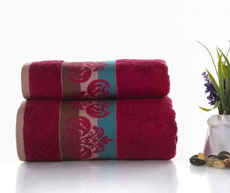 Zestaw 2 ręczników kąpielowych Noble Dark Red