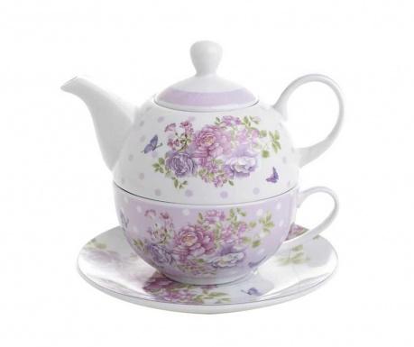 Blossom Teáskanna, csésze és kistányér