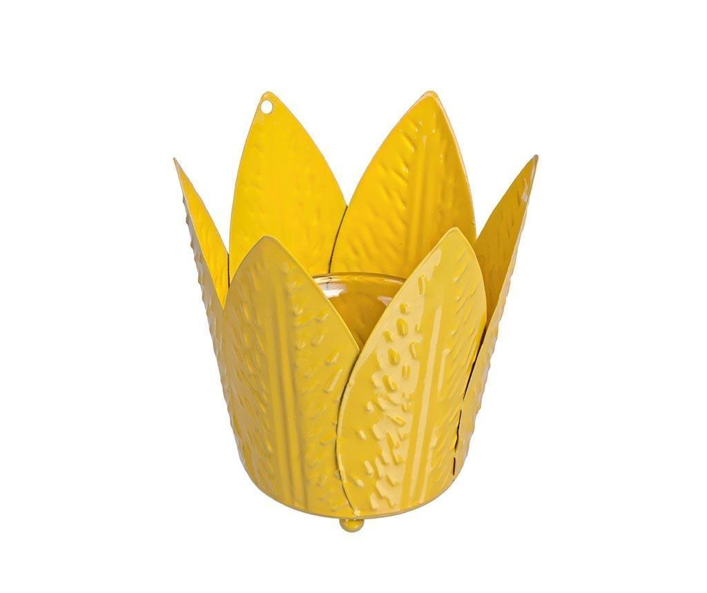 Suport pentru lumanare Tulip Yellow