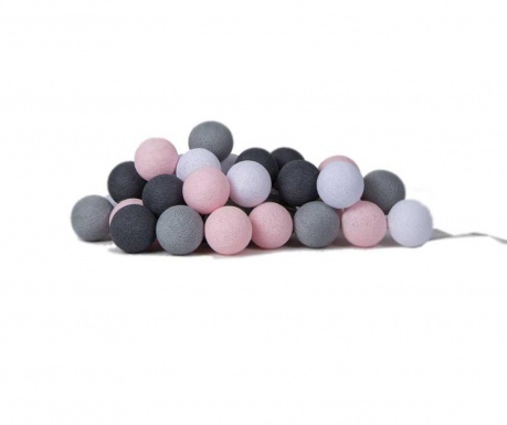Ghirlanda luminoasa Favorites Pink Grey