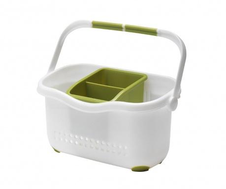 Suport pentru accesorii de bucatarie Caddy White Green