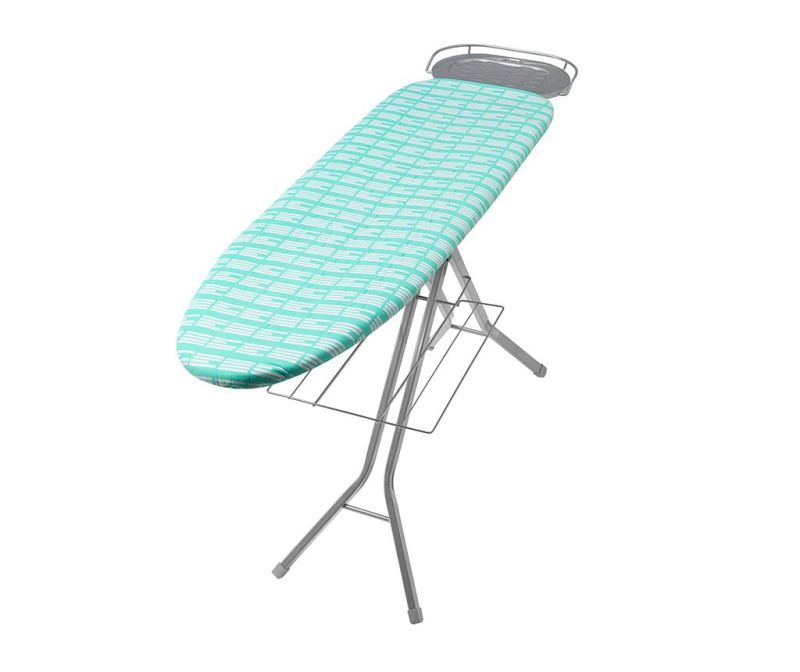 Prevleka za likalno desko Perfect Fit Stripe Aqua Green 46x135 cm